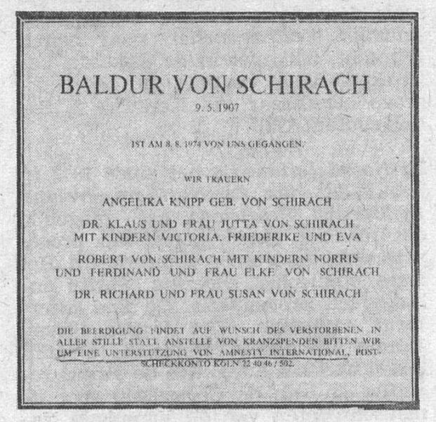 von Schirach Baldur (B...